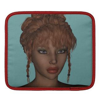 Beautiful Hot 3D Redhead Woman Model Digital Art iPad Sleeve