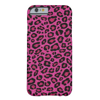 Beautiful hot pink leopard skin glitter shine barely there iPhone 6 case