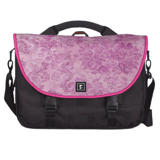 beautiful,hot pink,vintage,floral,pattern,victoria computer bag