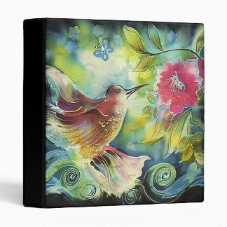 Beautiful Hummingbird Vinyl Binder