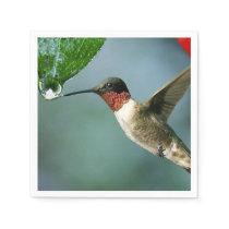 Beautiful Hummingbird Nature Scenery Napkin