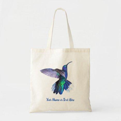 Beautiful Hummingbird Personalized Tote Bag