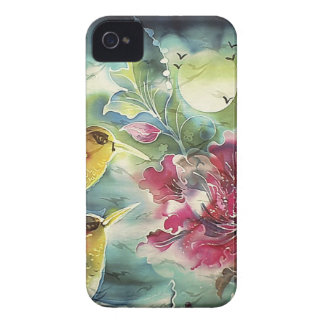 Beautiful Hummingbirds at Night Silk Art iPhone 4 Case
