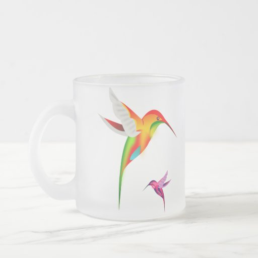 Beautiful Hummingbirds (Colibri) 10 Oz Frosted Glass Coffee Mug
