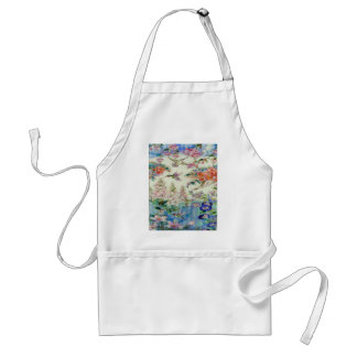Beautiful Hummingbirds Flowers Stained Glass Art Adult Apron