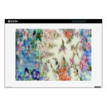 Beautiful Hummingbirds Flowers Stained Glass Art Skins For Laptops
