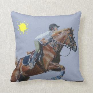 Beautiful Hunter Jumper Horse American MoJo Pillow