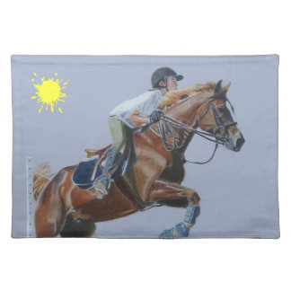 Beautiful Hunter/Jumper Horse American MoJo Placem Cloth Placemat