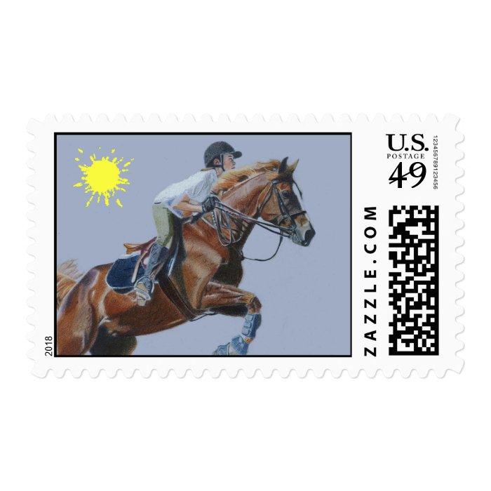 Beautiful Hunter/Jumper Horse Art Postage