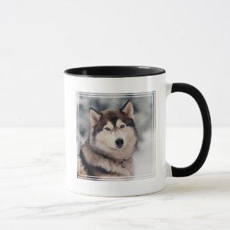 Beautiful Husky in the Outdoors Mug