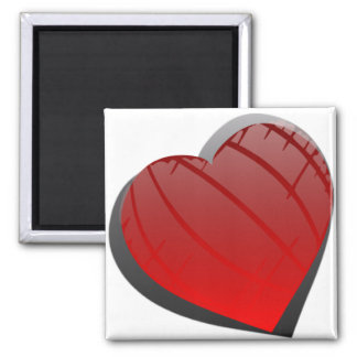 Beautiful I Love You Heart 2 Inch Square Magnet