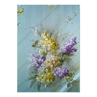 Beautiful Imperial bouquet 5x7 Paper Invitation Card