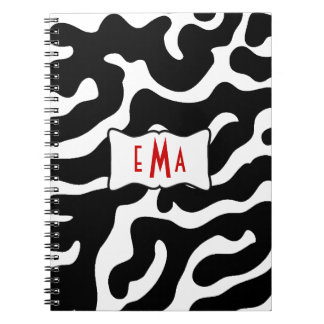 Beautiful in Black and White Spiral Note Book