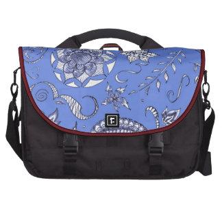 Beautiful in Blue Laptop Messenger Bag