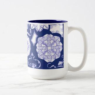 Beautiful in Blue Two-Tone Coffee Mug