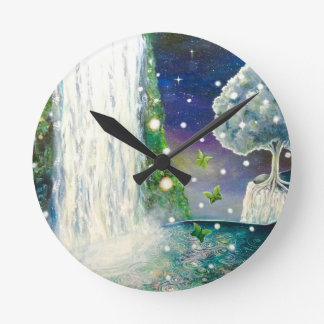 Beautiful In the Flow Wall Clock