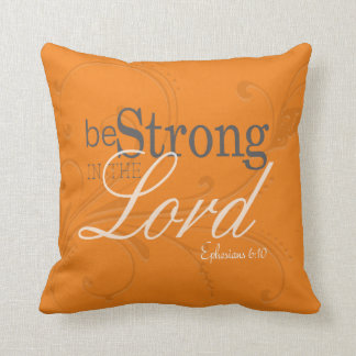 Beautiful Inspirational Orange Pillow