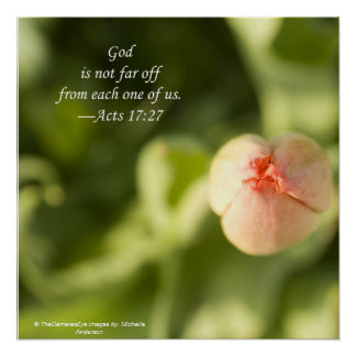 Beautiful Inspirational quote from the bible Print