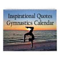 BEAUTIFUL INSPIRATIONAL QUOTES GYMNASTICS CALENDAR