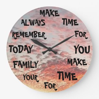 Inspirational Words Design Creative Large Clock