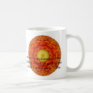 Beautiful Inspiring Biblical Angel  Quote Classic White Coffee Mug