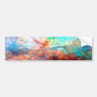 Beautiful Inspiring Underwater Scene Art Bumper Sticker