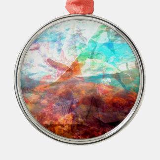 Beautiful Inspiring Underwater Scene Art Metal Ornament