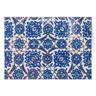 Beautiful Inzink Tiles from turkey Suleiman Mosque Card