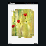 """Beautiful Ipad Skins. Floral and designer. Skin For iPad 3<br><div class=""""desc"""">Beautiful painting of anemones on your product. Floral and aesthetic. Ideal for Gifting or Collection. Customize as you like.</div>"""
