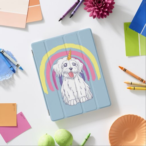 Beautiful Ipad Unicorn Dog Cover