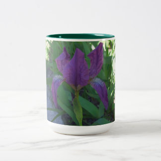 BEAUTIFUL IRIS Two-Tone COFFEE MUG