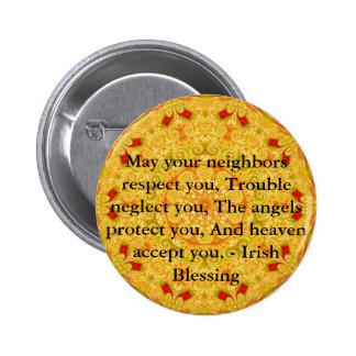 Beautiful Irish Blessing - IRELAND Pinback Button