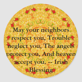 Beautiful Irish Blessing - IRELAND Classic Round Sticker
