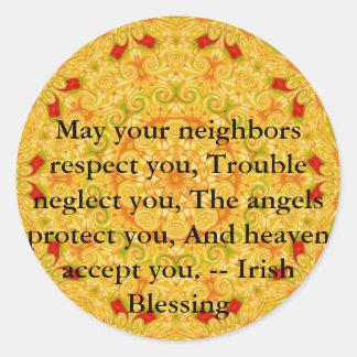 Beautiful Irish Blessing - IRELAND Classic Round Sticker