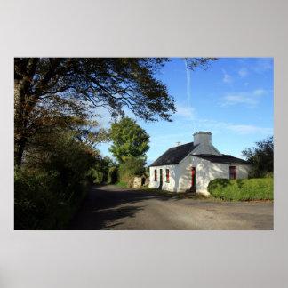 Beautiful Irish Cottage Poster
