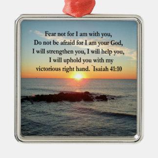 BEAUTIFUL ISAIAH 41:10 SUNRISE METAL ORNAMENT