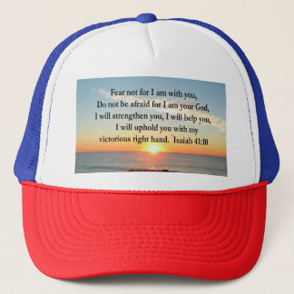 BEAUTIFUL ISAIAH 41:10 SUNRISE TRUCKER HAT