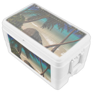 Beautiful island chest cooler