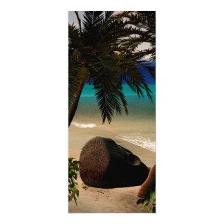 "Beautiful island 4"" x 9.25"" invitation card"
