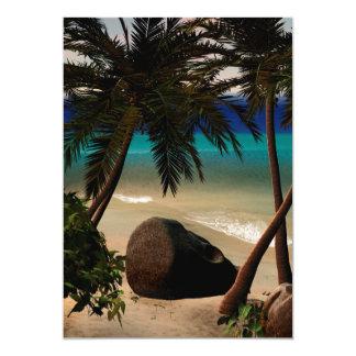 "Beautiful island 5"" x 7"" invitation card"
