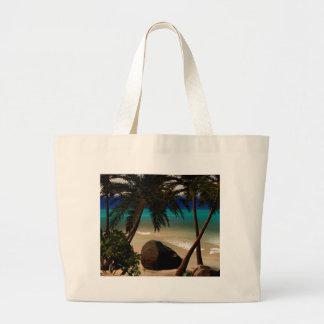 Beautiful island large tote bag