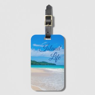 Beautiful Island Life Bag Tag