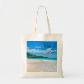 Beautiful Island Life Tropical Beach Photo Tote Bag