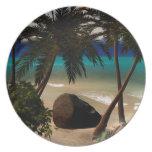 Beautiful island party plate