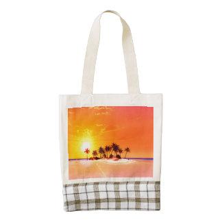 Beautiful island zazzle HEART tote bag