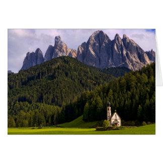 Beautiful isolated lonely church called Rainui 2 Card