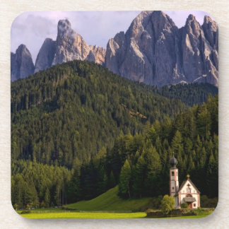 Beautiful isolated lonely church called Rainui 2 Beverage Coasters
