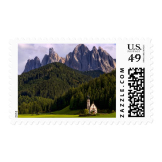 Beautiful isolated lonely church called Rainui 2 Stamps