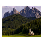 Beautiful isolated lonely church called Rainui 2 Poster