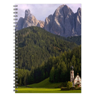 Beautiful isolated lonely church called Rainui 2 Spiral Notebook